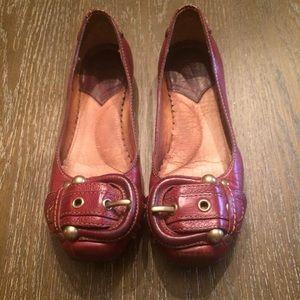 Frye Megan buckle shoes sz 5.5